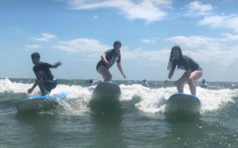 Jewish, summer camp, surfing, sailing, scuba, yoga, virgina